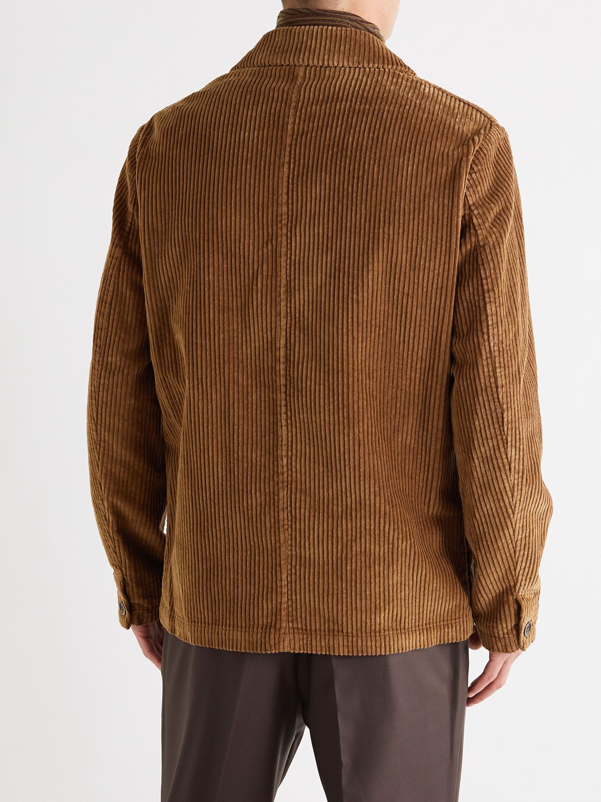Barena Double-Breasted Cotton-Corduroy Blazer