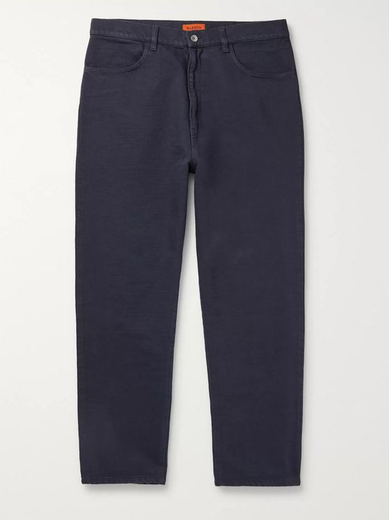 Barena Tapered Cotton-Blend Twill Trousers