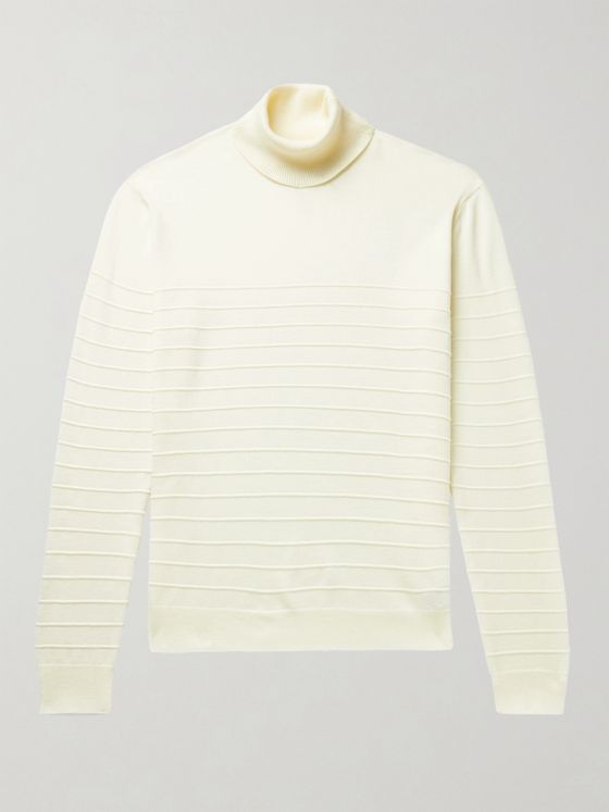 Barena Striped Virgin Wool Rollneck Sweater