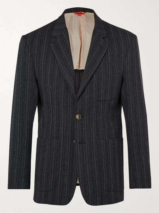 Barena Unstructured Striped Woven Blazer