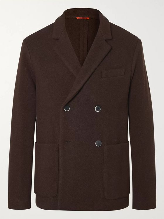 Barena Double-Breasted Wool-Blend Blazer