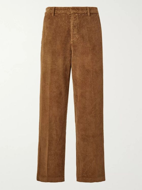 Barena Wide-Leg Cotton-Corduroy Suit Trousers