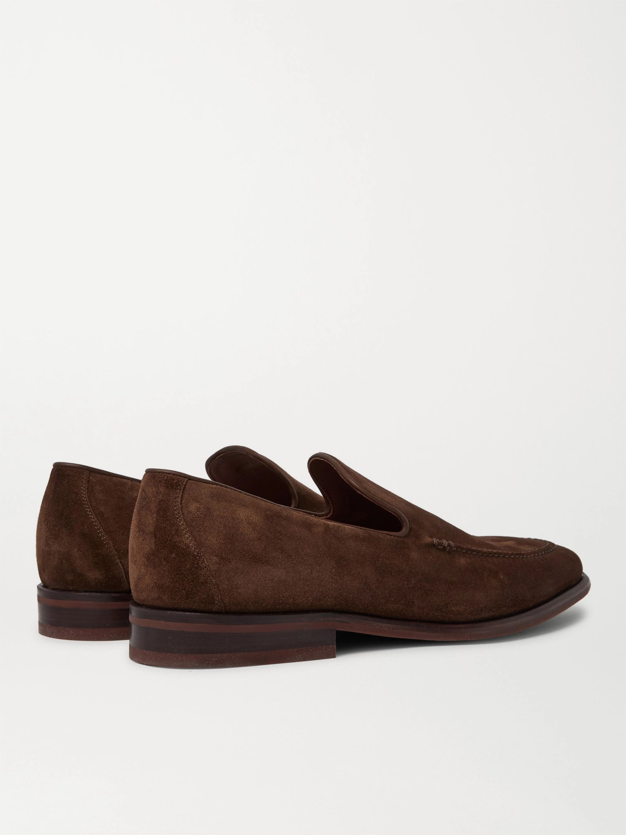 Brown City Suede Loafers | Loro Piana