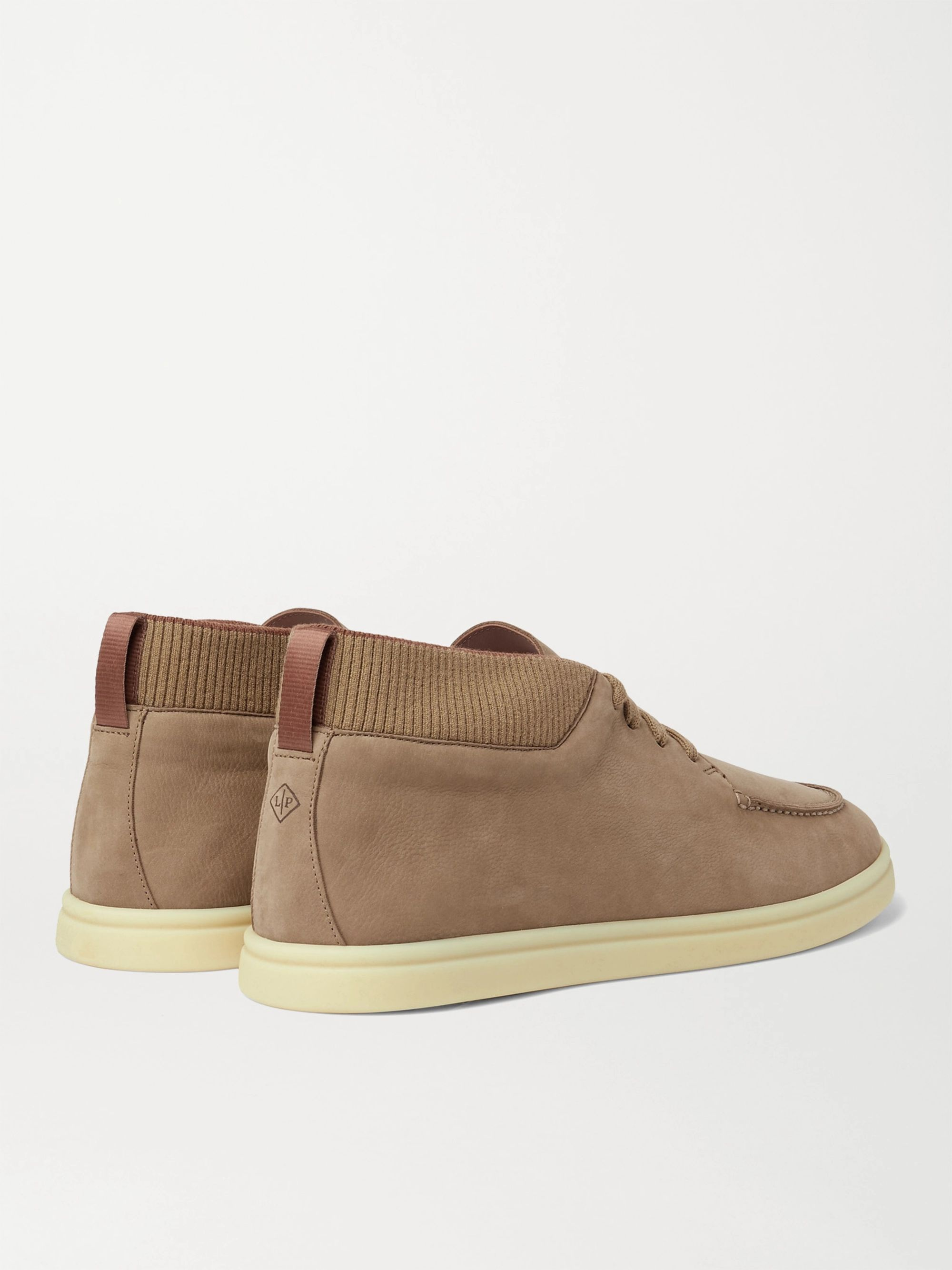 LORO PIANA Soho Walk Nubuck High-Top Sneakers