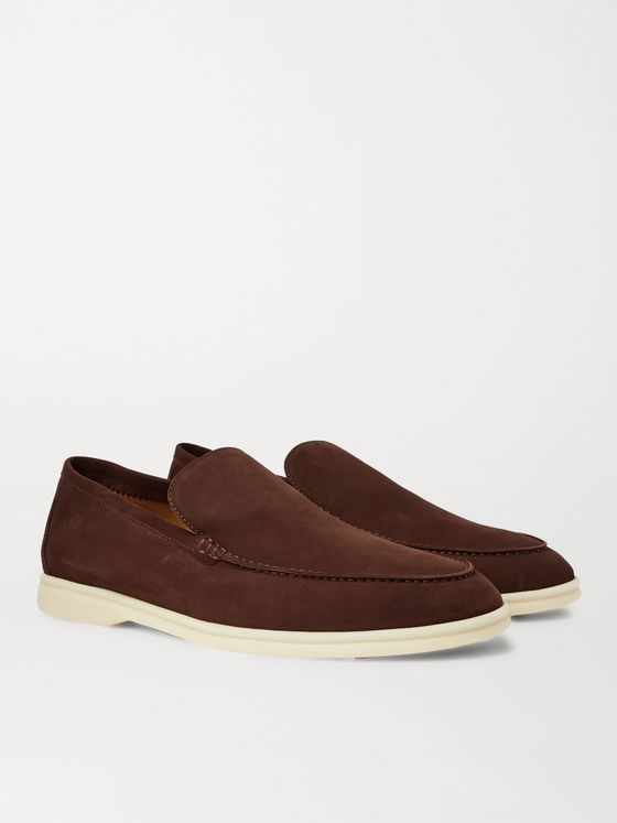 Loro Piana Summer Walk Nubuck Loafers