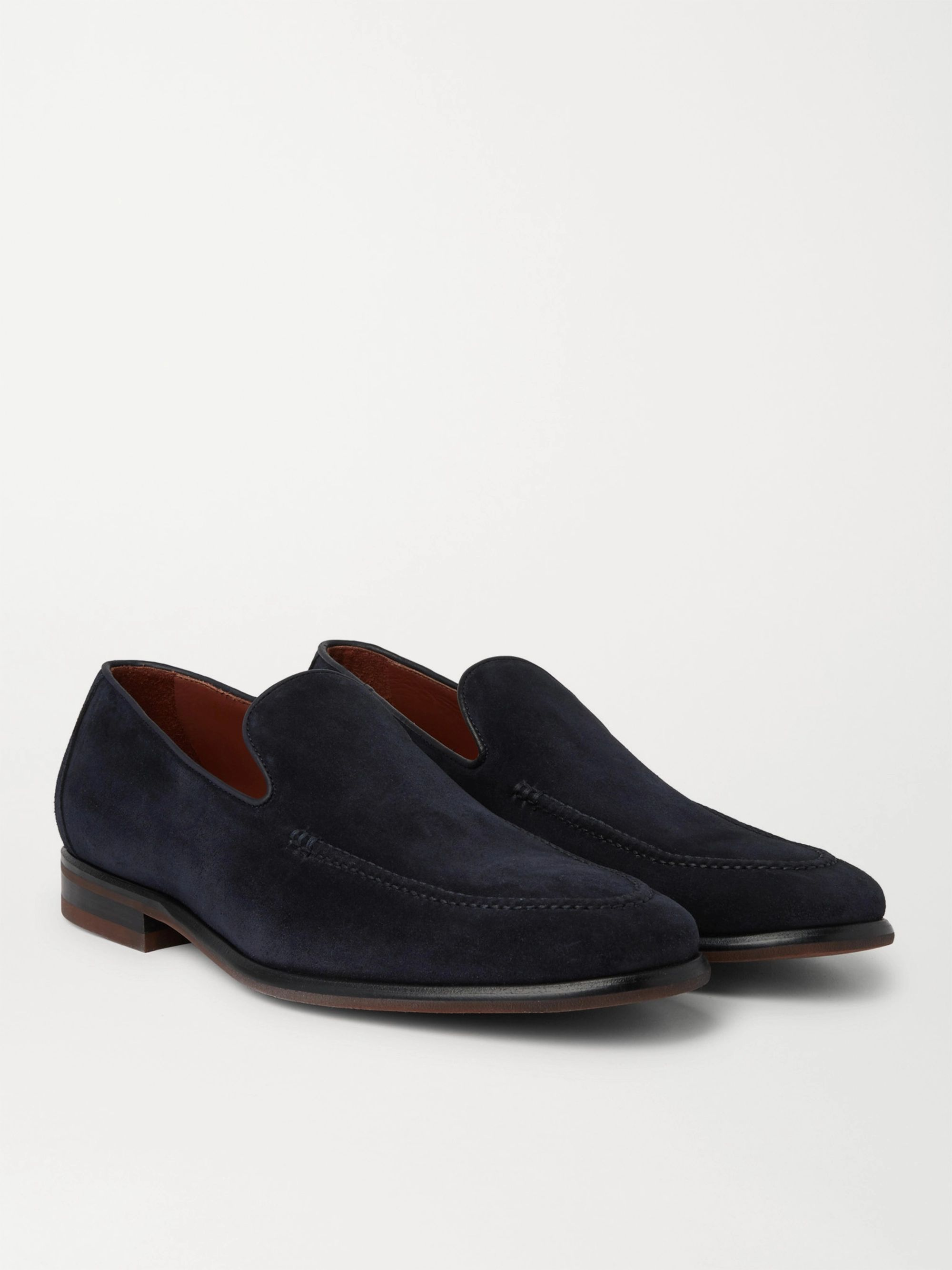 Loro Piana City Suede Loafers