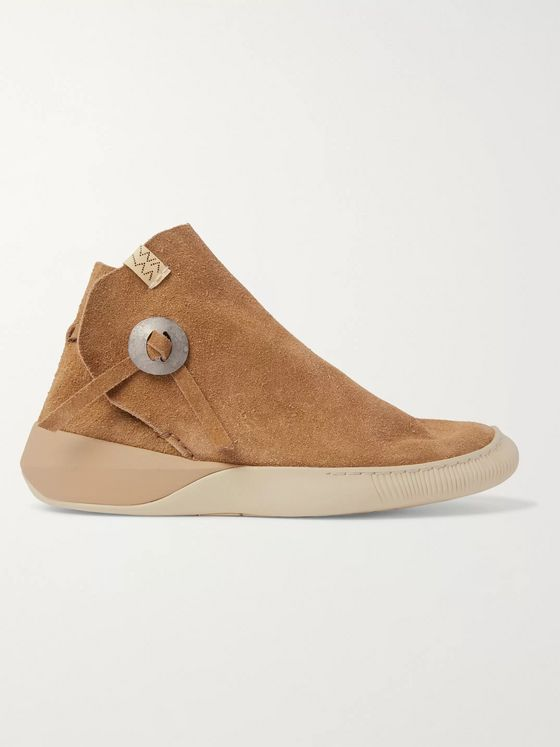 VISVIM Gila Moc Mid II Suede High-Top Sneakers