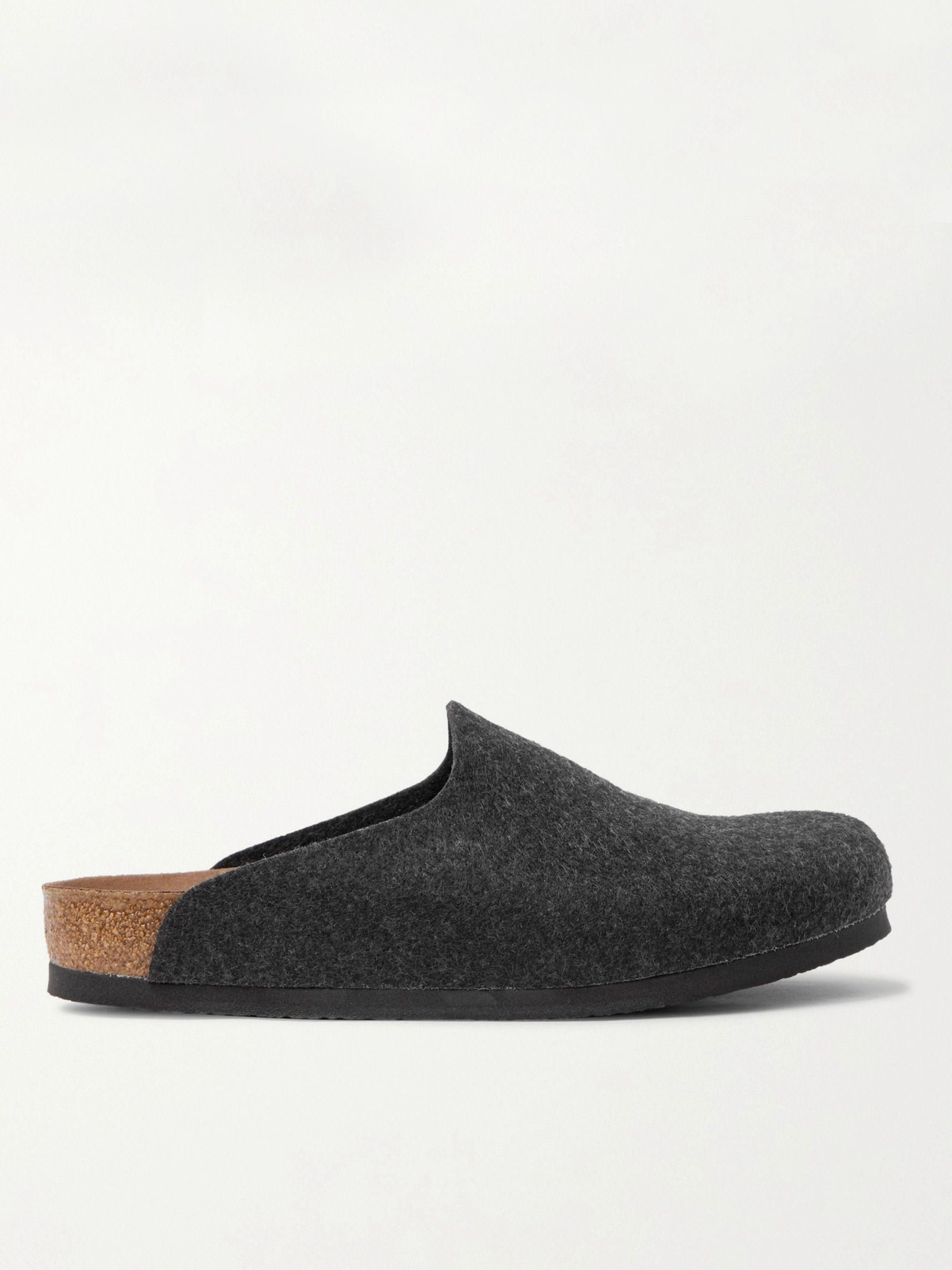Birkenstock Amsterdam Felt Slippers,Dark gray