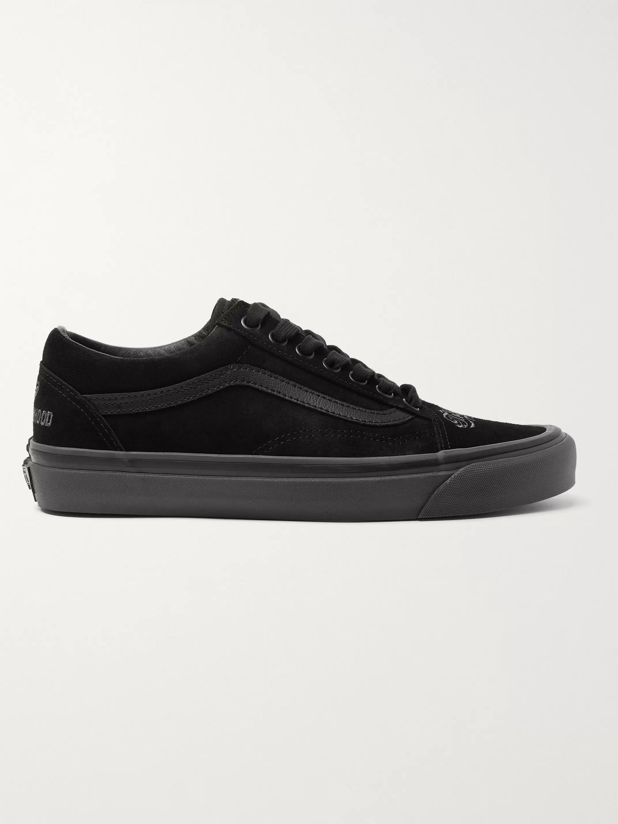 Vans + Neighbourhood Old Skool 36 DX Leather-Trimmed Suede Sneakers