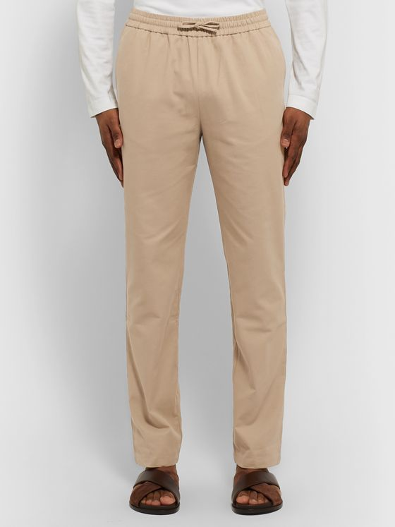 De Bonne Facture Cotton-Twill Drawstring Trousers