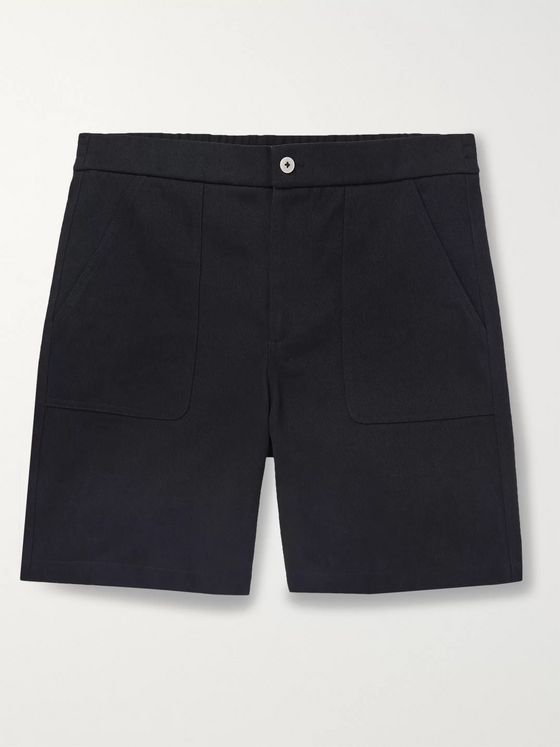De Bonne Facture Wide-Leg Cotton-Drill Shorts