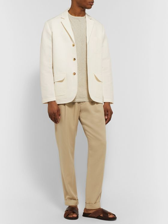 De Bonne Facture Linen and Organic Cotton-Blend Blazer