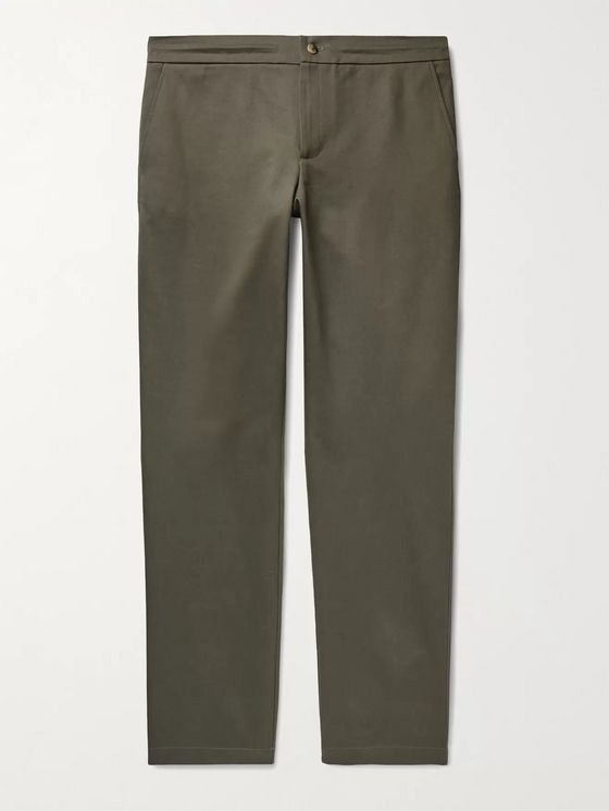De Bonne Facture Slim-Fit Cotton-Twill Trousers