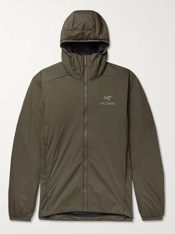 Arc'teryx Atom LT Jersey-Panelled Padded Hooded Nylon-Ripstop Jacket
