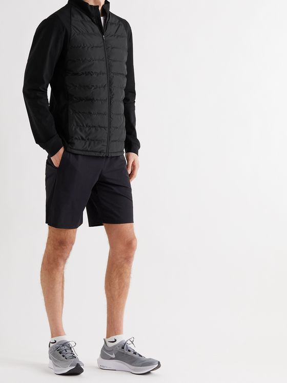 CASTORE Bocaray Panelled Stretch-Jersey and Quilted Shell Down Jacket