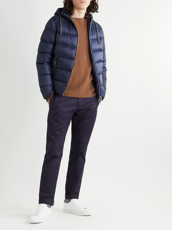 Herno Quilted Shell Down Hooded Jacket