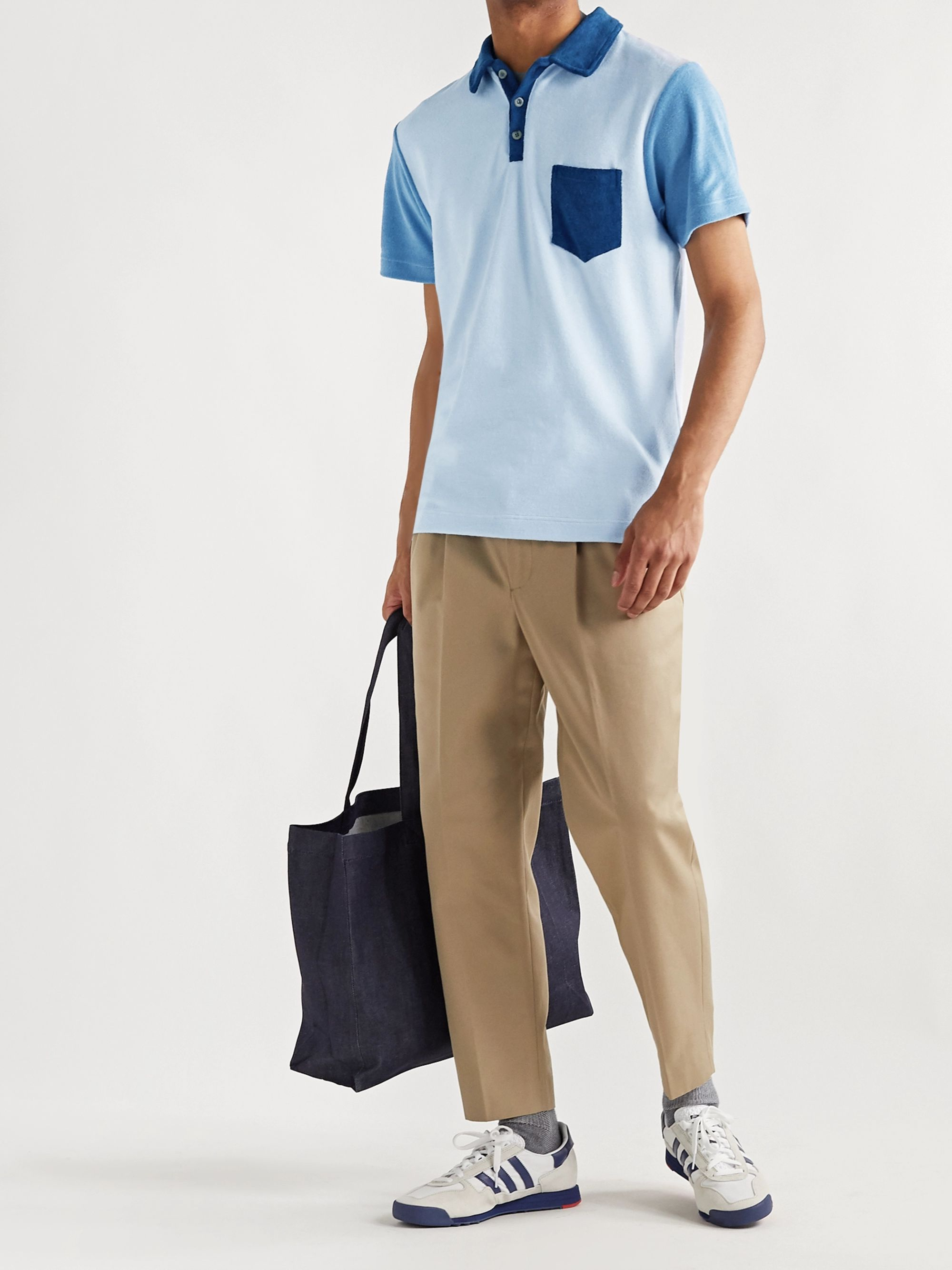 Howlin' Mr Fantasy Colour-Blocked Cotton-Blend Terry Polo Shirt