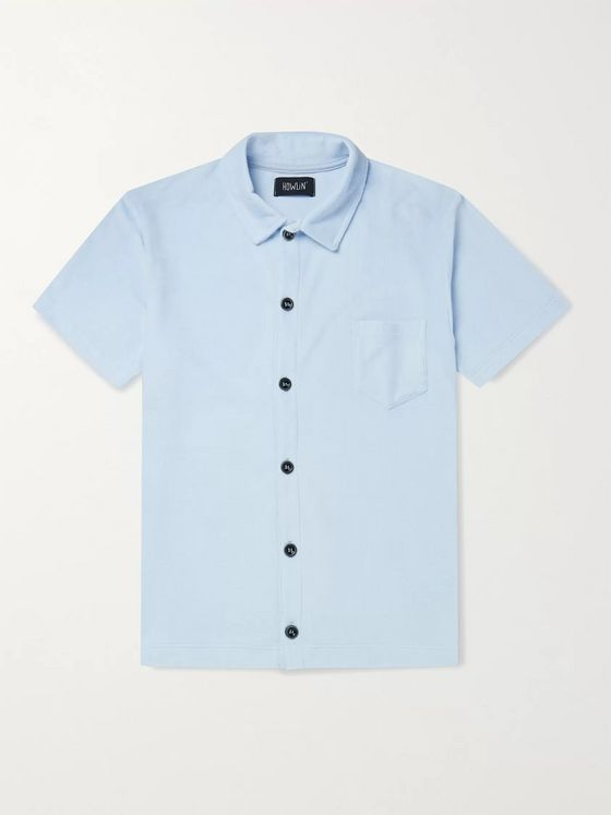 Howlin' Light Flight Slim-Fit Cotton-Blend Terry Polo Shirt