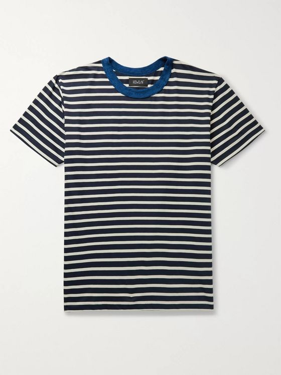Howlin' Terry-Trimmed Striped Cotton-Jersey T-Shirt