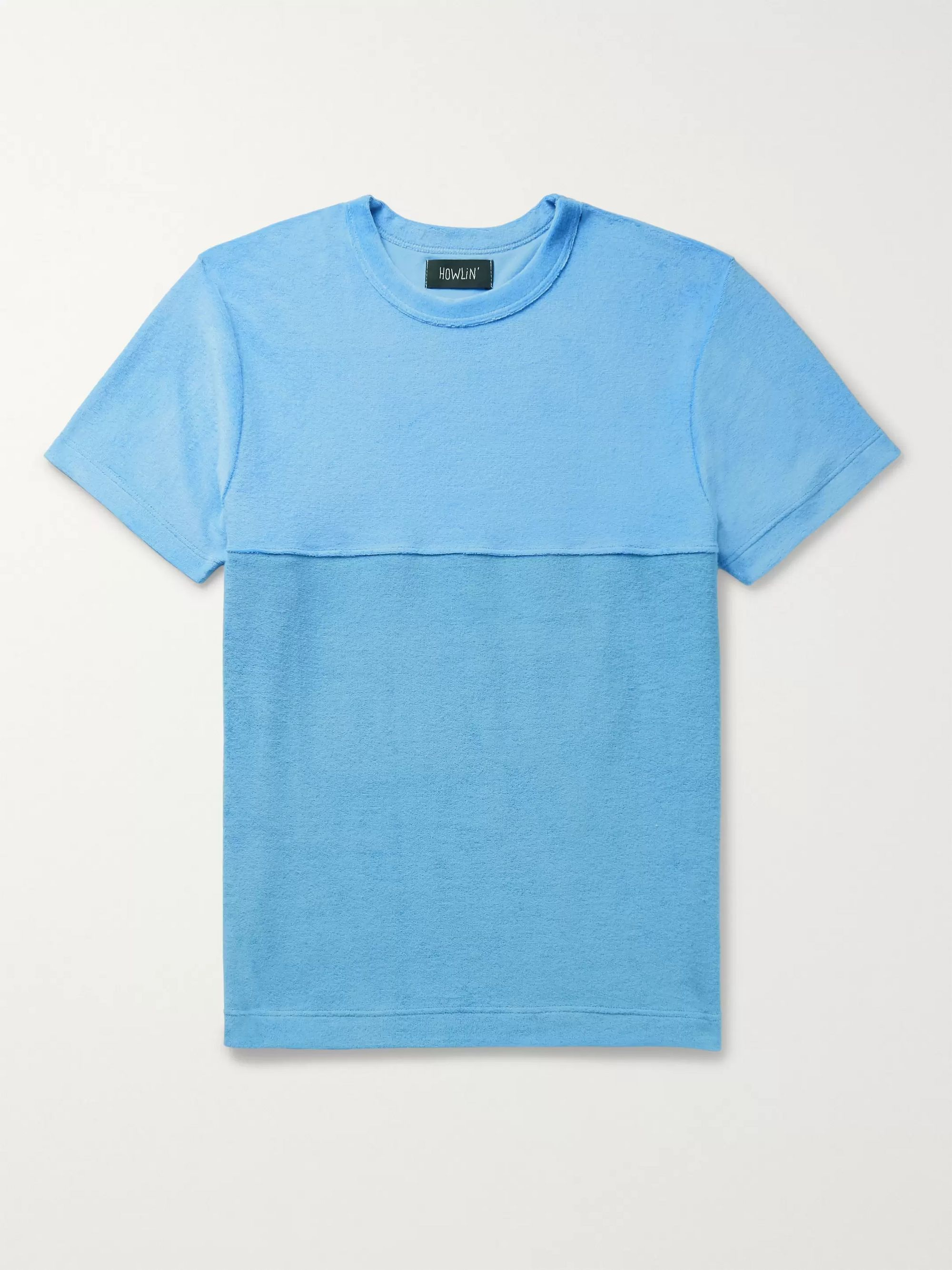 Howlin' Duo Colour-Block Cotton-Blend Terry T-Shirt