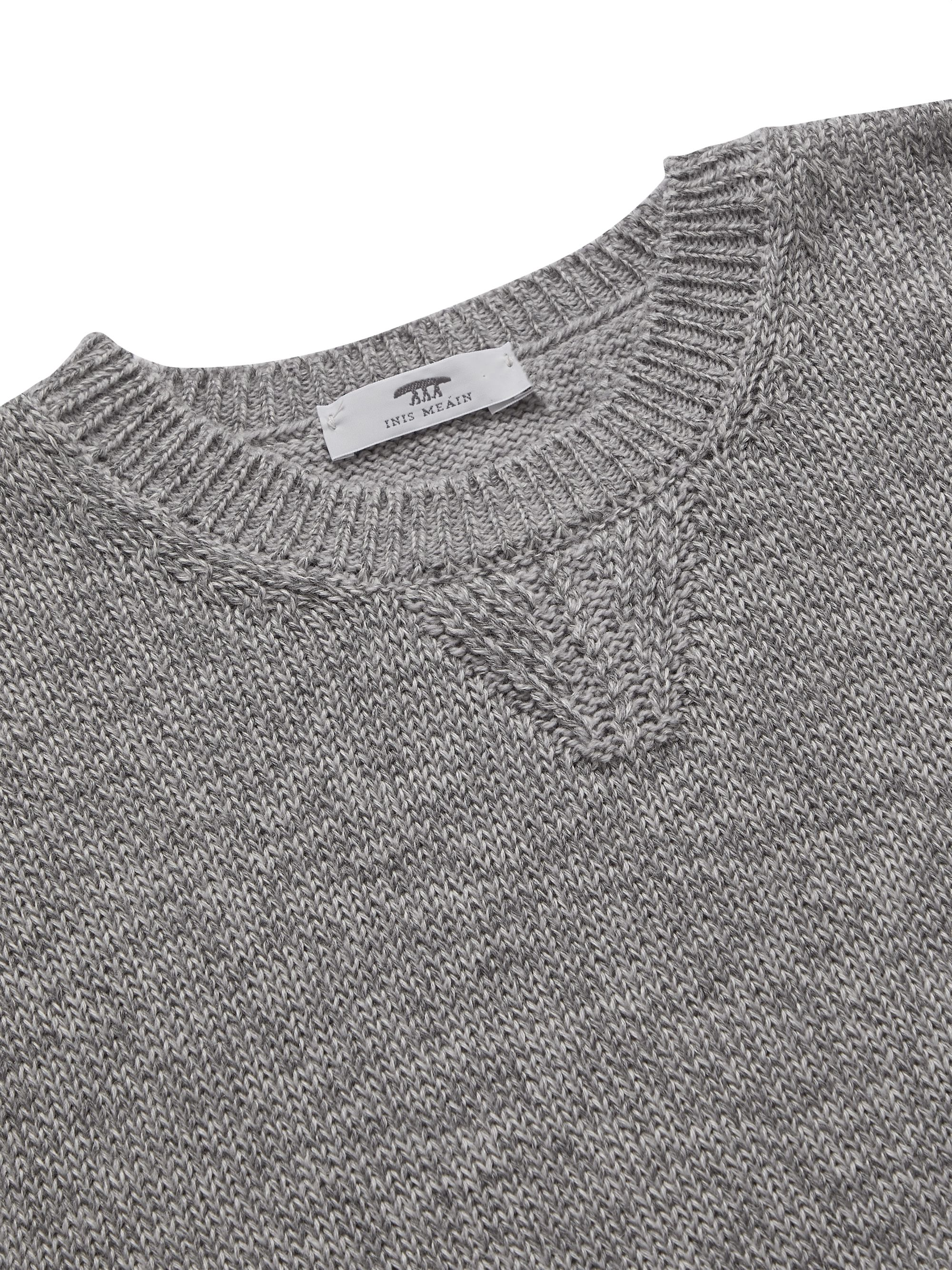 Inis Meáin Mélange Merino Wool, Alpaca and Silk-Blend Sweater