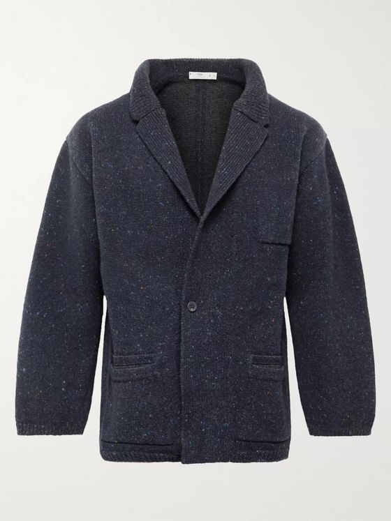 Inis Meáin Unstructured Flecked Merino Wool and Cashmere-Blend Blazer