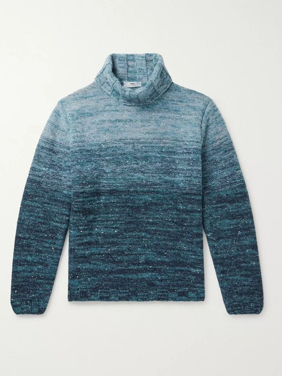 Inis Meáin Mélange Merino Wool and Cashmere-Blend Rollneck Sweater