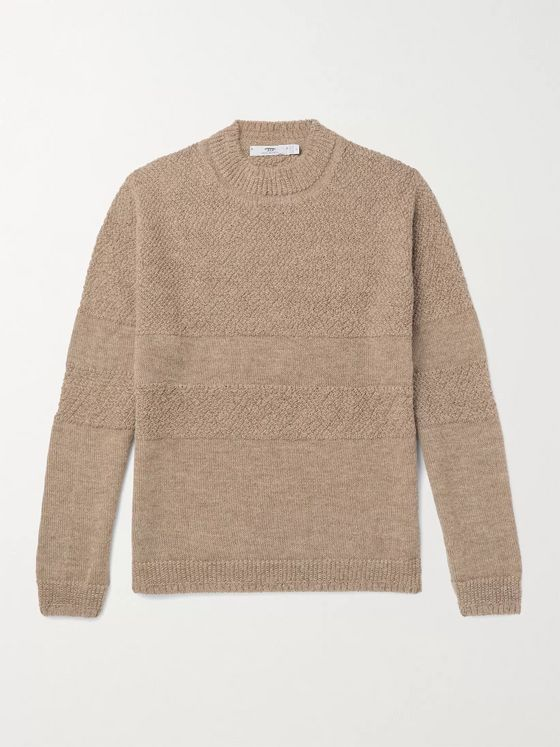 Inis Meáin Mélange Textured Baby Alpaca Sweater