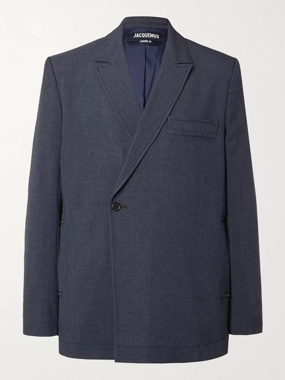 Jacquemus Moulin Double-Breasted Wool-Blend Blazer