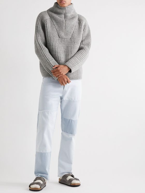Jacquemus La Maille Ribbed Wool-Blend Half-Zip Sweater