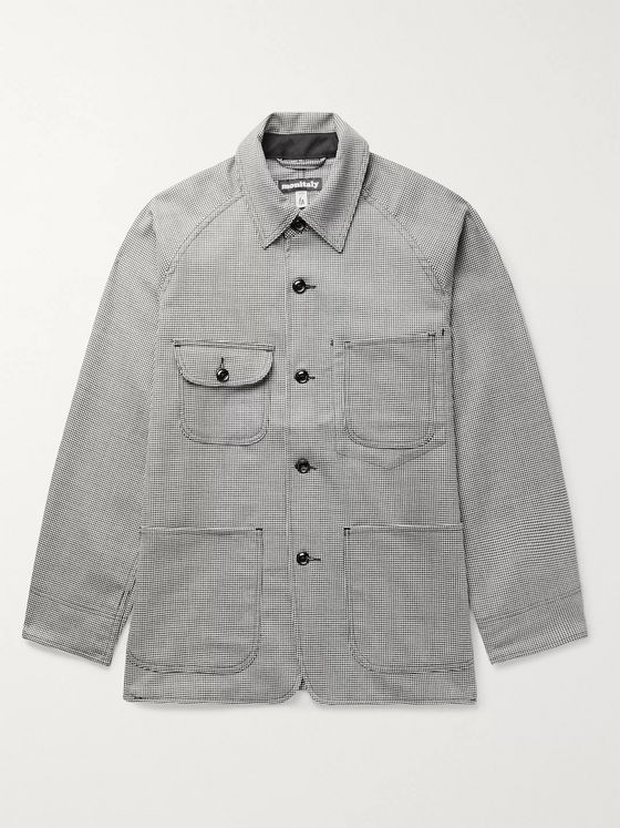MONITALY Houndstooth Wool Overshirt