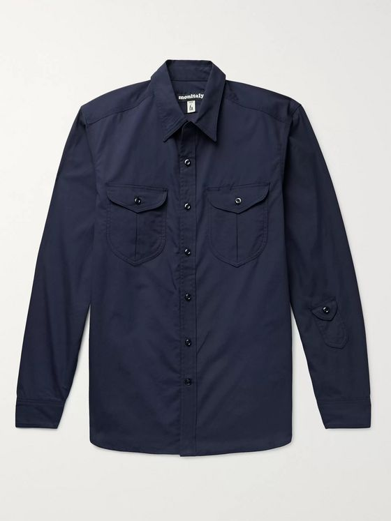 Monitaly Cotton-Poplin Shirt