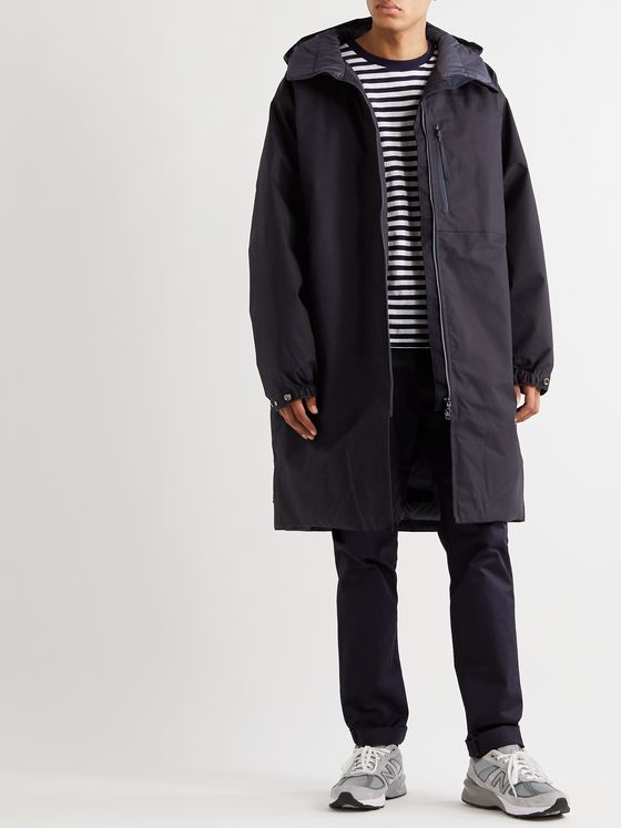 nanamica Padded Cotton-Poplin Hooded Down Parka