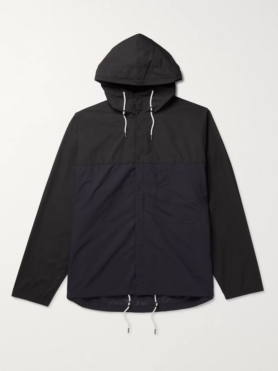 Two Tone Shell Hooded Jacket