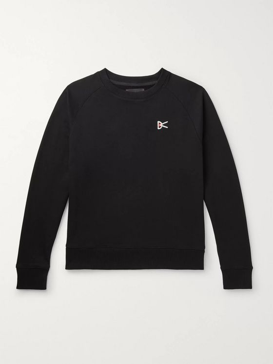 DISTRICT VISION Sati Logo-Embroidered Loopback Cotton-Jersey Sweatshirt