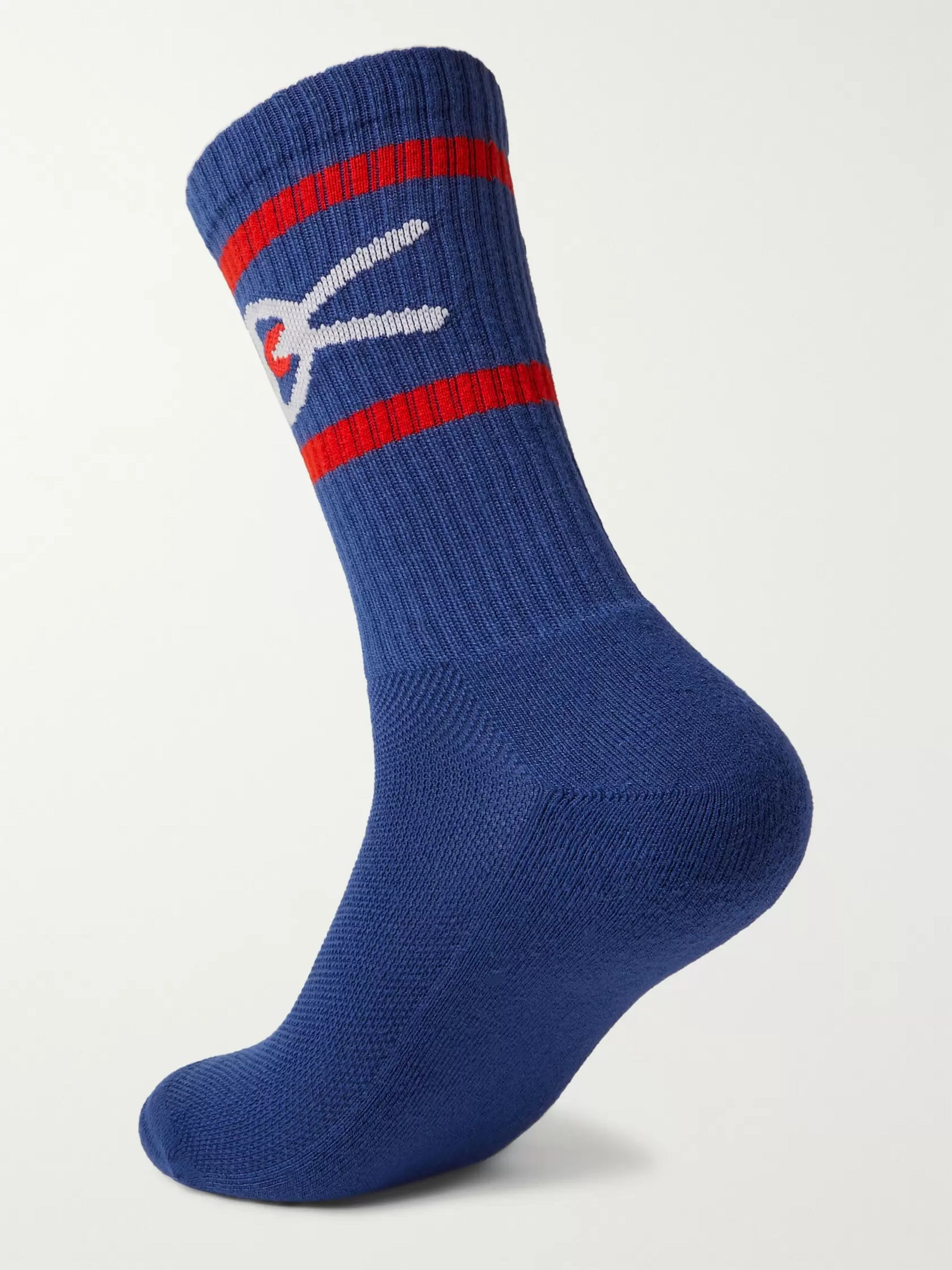 DISTRICT VISION Logo-Jacquard Stretch-Knit Socks