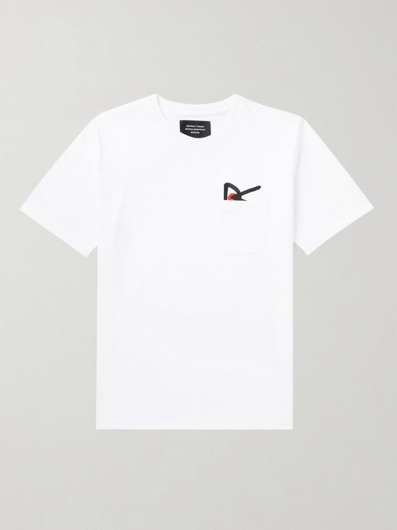DISTRICT VISION Intoku Logo-Embroidered Cotton-Jersey T-Shirt