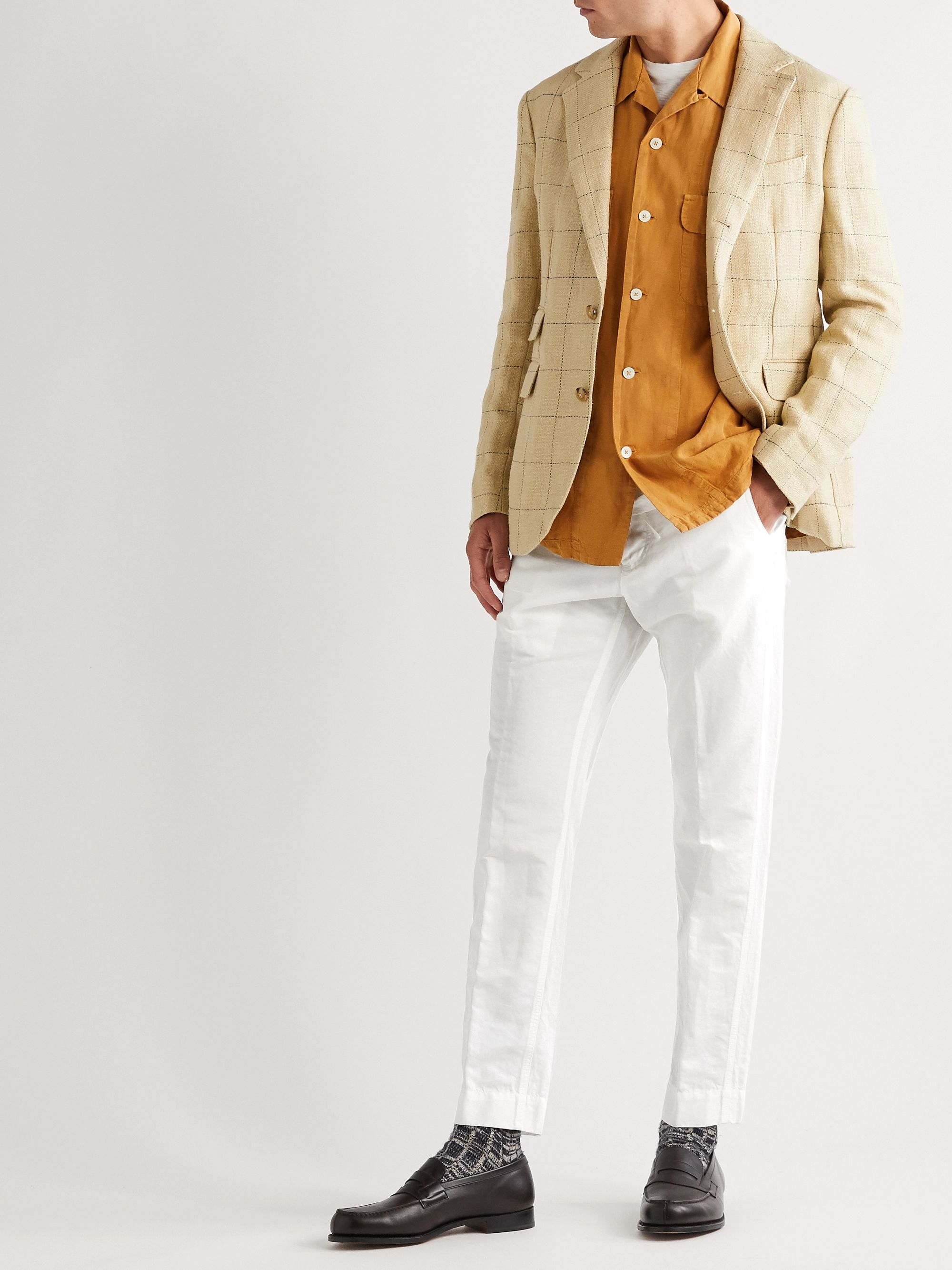 MAN 1924 Tomi Tapered Linen and Cotton-Blend Drawstring Trousers
