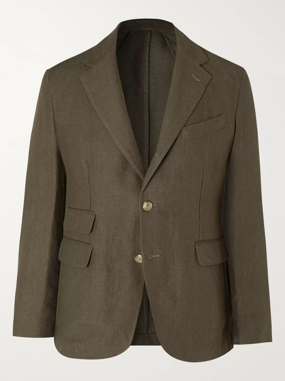 MAN 1924 Kennedy Slim-Fit Unstructured Linen Suit Jacket