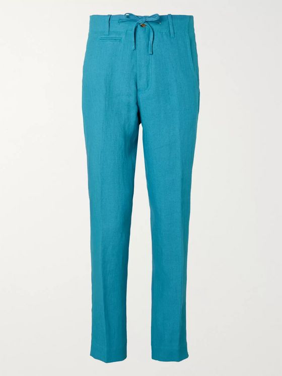MAN 1924 Tomi Tapered Linen Drawstring Trousers