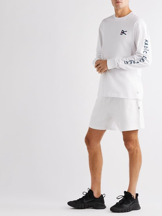 DISTRICT VISION + Reigning Champ Retreat Loopback Cotton-Jersey Shorts