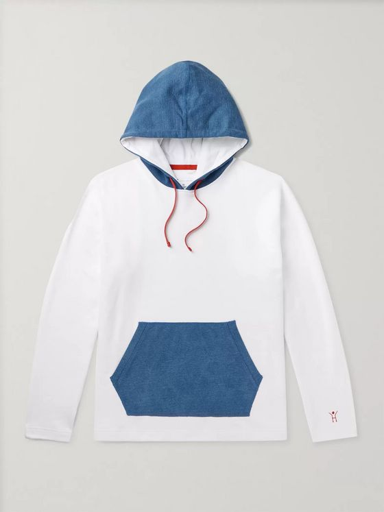 DISTRICT VISION + Reigning Champ Colour-Block Cotton-Jersey Hoodie