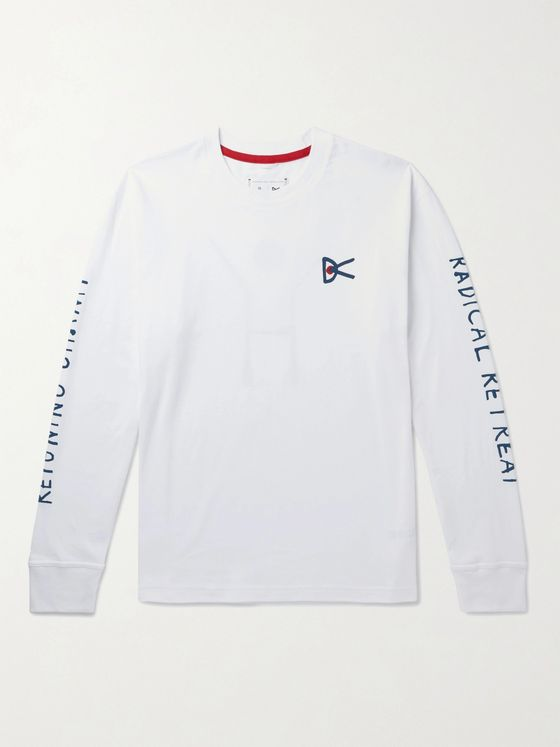 DISTRICT VISION + Reigning Champ Retreat Logo-Print Cotton-Jersey T-Shirt
