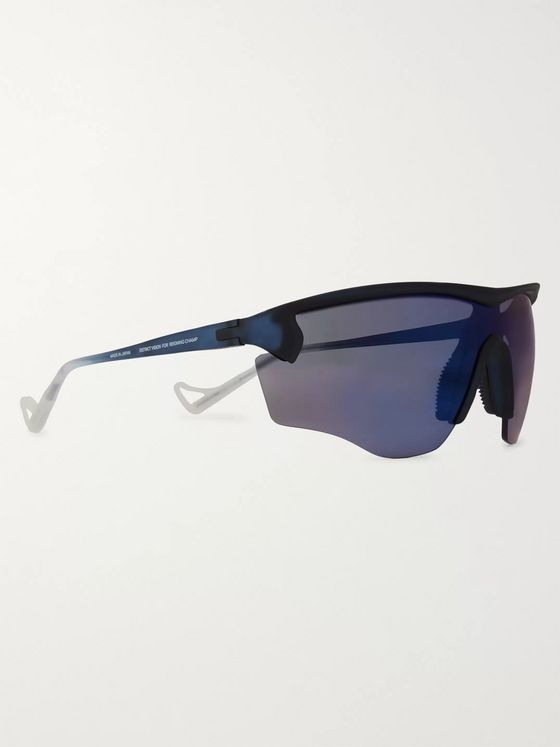 DISTRICT VISION + Reigning Champ Junya Racer D-Frame Polycarbonate and Rubber Sunglasses