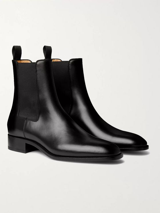 CHRISTIAN LOUBOUTIN Samson Leather Chelsea Boots