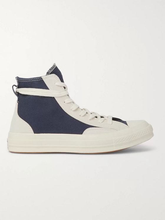 Converse Chuck 70 Final Club Suede-Panelled Organic Canvas High-Top Sneakers