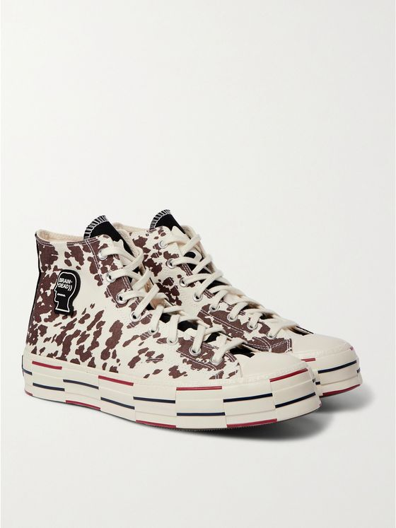 CONVERSE + Brain Dead Chuck 70 Animal-Print Canvas High-Top Sneakers