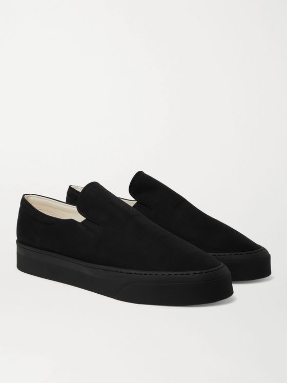 THE ROW Dean Canvas Slip-On Sneakers
