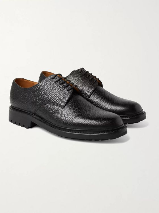 Grenson Curt Full-Grain Leather Derby Shoes