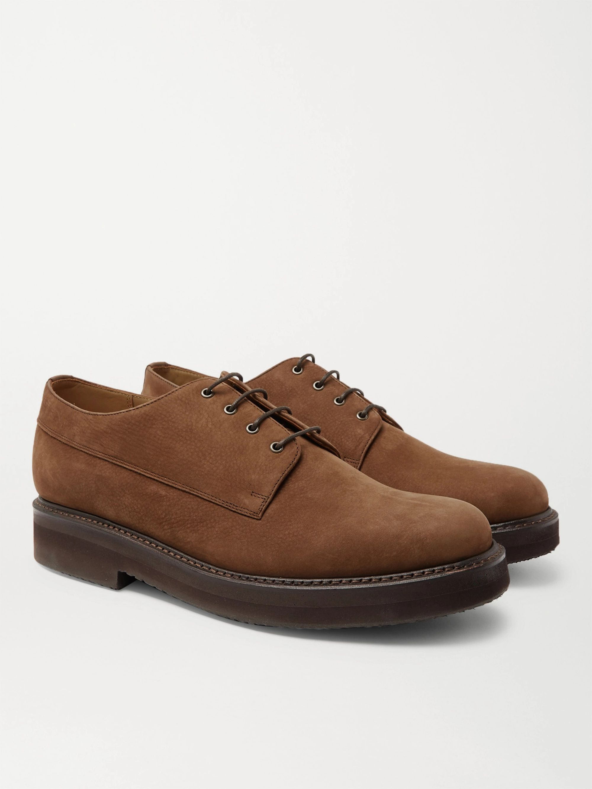 GRENSON Hurley Nubuck Derby Shoes